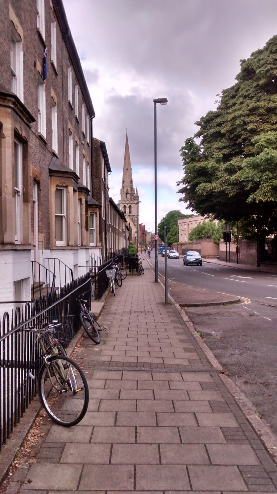 A photo of a street in Cambridge